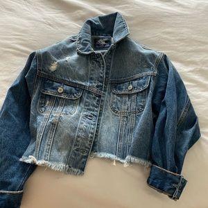 Abercrombie cropped denim jacket.